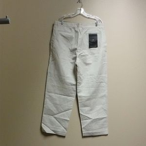 Men's Claiborne Cream Colored Pants Size 38 x 32